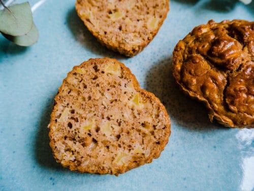 Æblemuffins med kanel - Opskrift på sunde muffins med æble og kanel