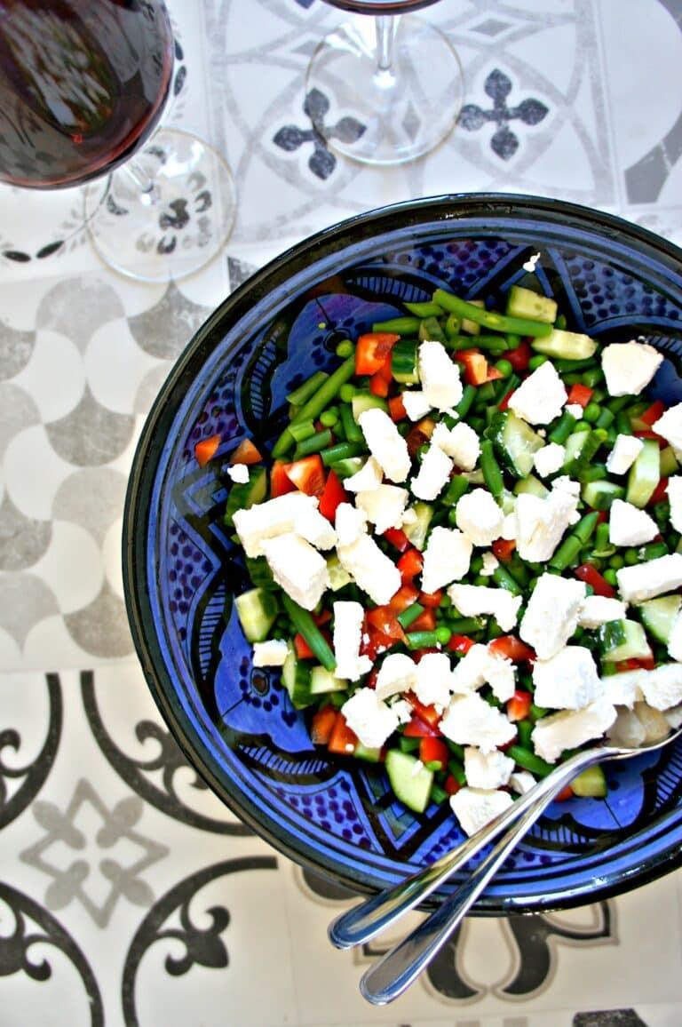 Bønnesalat med feta - Opskrift på lækker, sund salat med grønne bønner