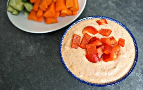 Cashew dip - Opskrift på sund dip til grønsagsstænger (gulerødder, selleri)
