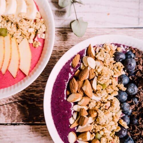 Blåbærsmoothie - Opskrift på sund smoothie med blåbær og banan