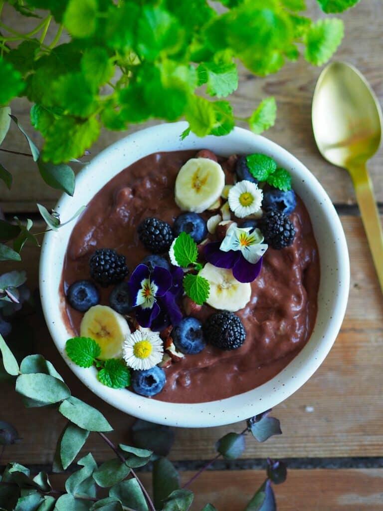 Chokolade nicecream - Opskrift på sund nicecream med banan og kakao
