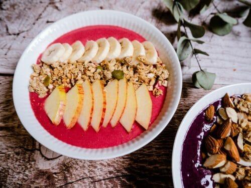 Hindbærsmoothie - Opskrift på sund smoothie med hindbær og banan