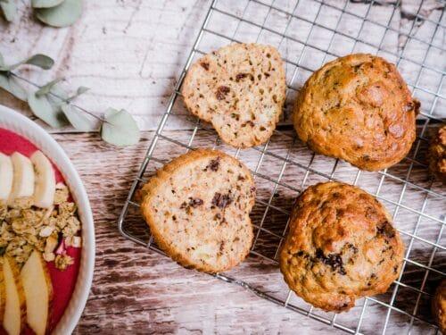 Morgenmadsmuffins - Opskrift på sunde muffins med banan og chokolade