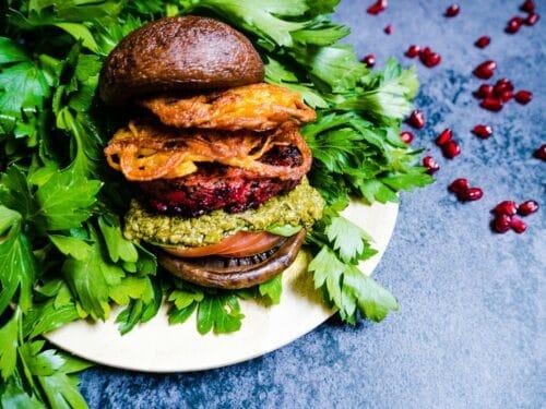Portobello burger - Opskrift på verdens lækreste vegetarburger - Glutenfri