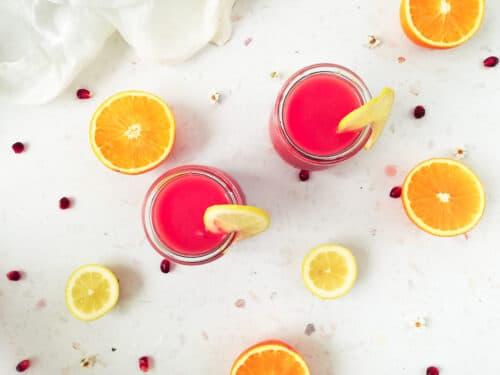 Granatæble juice med appelsin